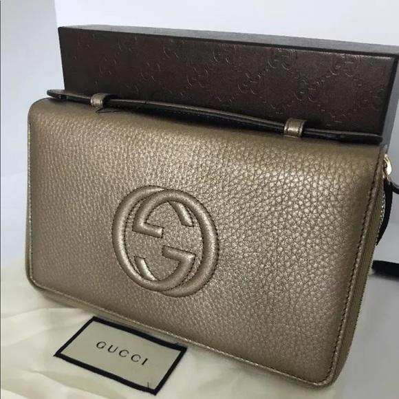 2944e8e0036f Gucci Bags | Soho Double Zip Around Travel Clutchwallet | Poshmark